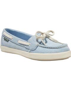 Eastland Women's Light Blue Skip Canvas Boat Shoe, Light/pastel Blue, hi-res