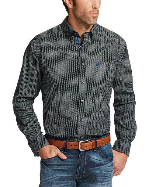 Ariat Men's Black Relentless Spur Print Western Shirt , Black, hi-res