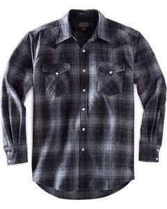 Pendleton Men's Charcoal Grey Canyon Plaid Shirt , Grey, hi-res