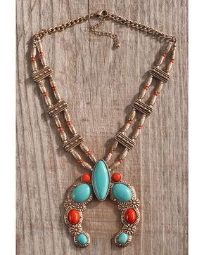 Shyanne Women's Copper Squash Blossom Necklace, Multi, hi-res
