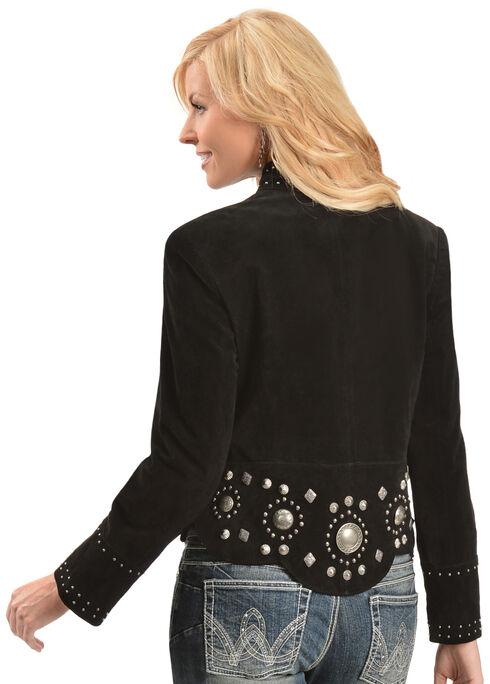 Scully Black Studded Suede Jacket, Black, hi-res