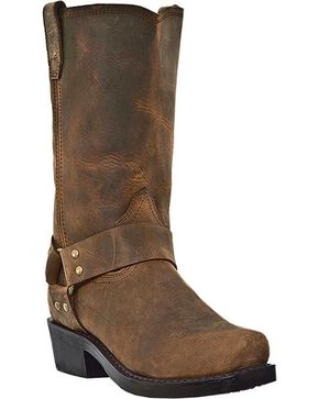 Dingo Dean Harness Boots - Snoot Toe, Dark Brown, hi-res