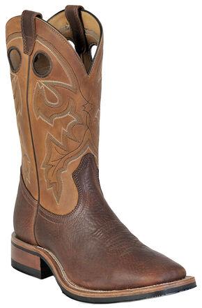 Boulet Shoulder Old Town Organza Brown Cowboy Boots - Square Toe, Brown, hi-res
