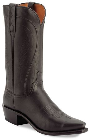 Lucchese Handcrafted 1883 Tan Ranch Hand Cowboy Boots, Black, hi-res
