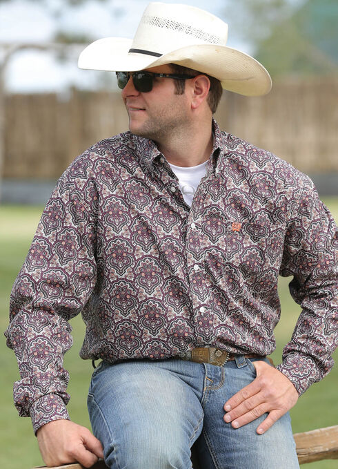 Cinch Men's Multi Print Long Sleeve Shirt , Multi, hi-res