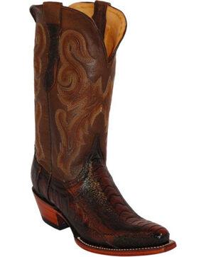 Ferrini Ostrich Leg Cowgirl Boots - Snip Toe, Brown, hi-res