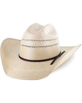 Cody James Men's Natural 50X Cattleman Crease Straw Hat , Natural, hi-res