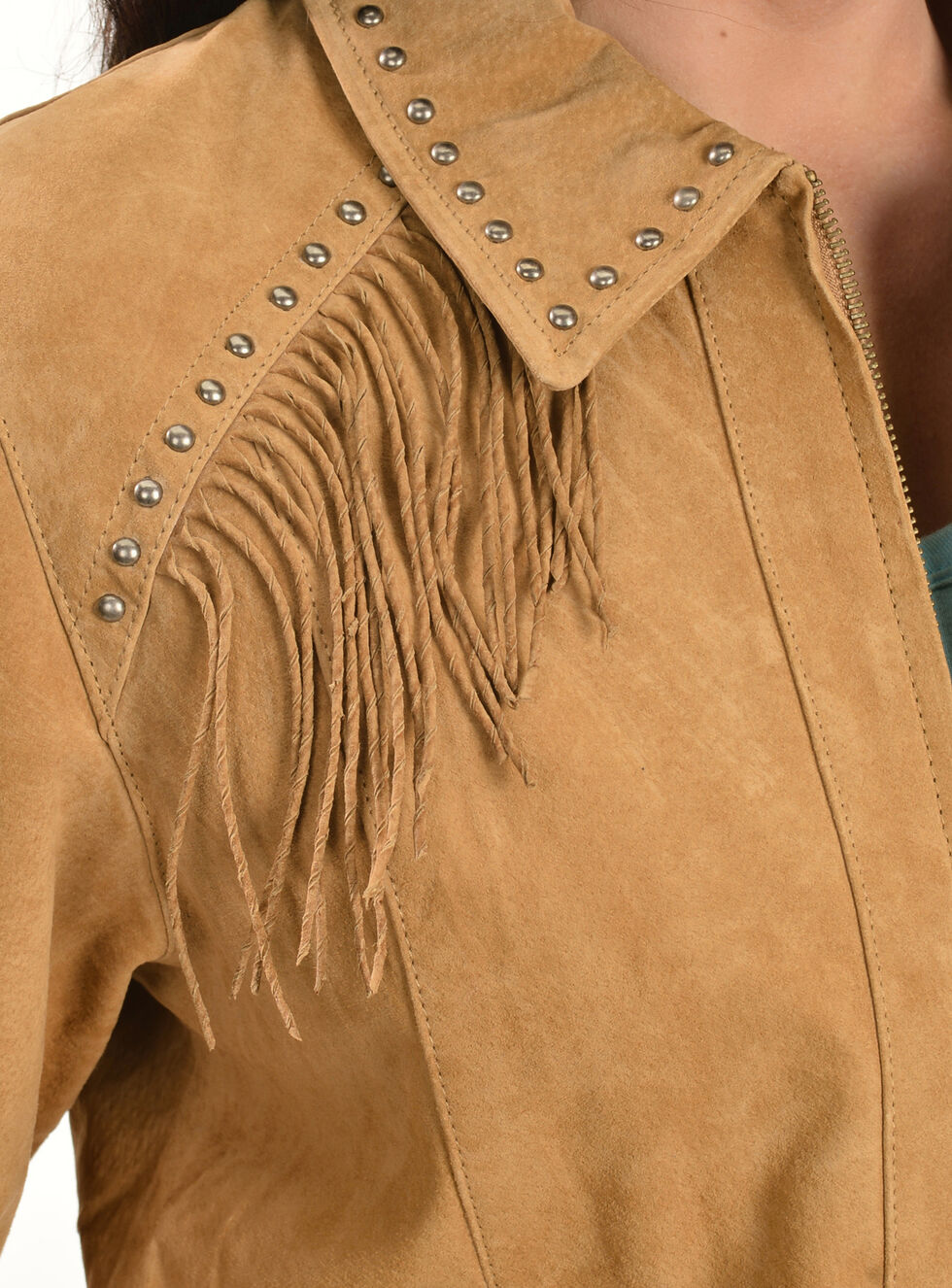Scully Studded Fringe Jacket, Tan, hi-res