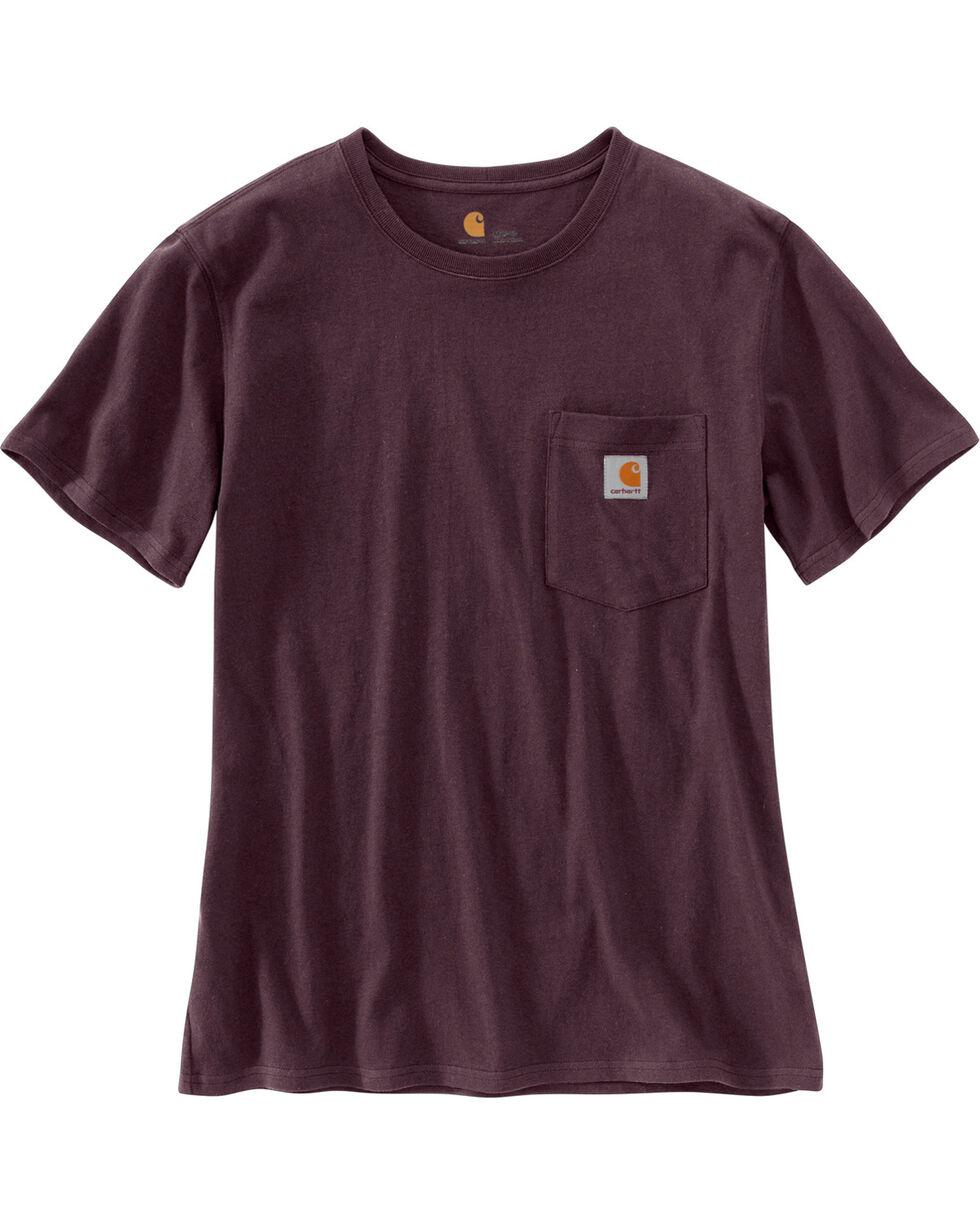 Carhartt Women's Workwear Pocket T-Shirt, Wine, hi-res