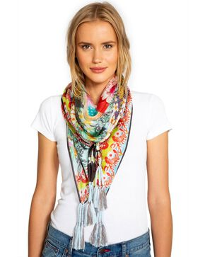 Johnny Was Women's Floral Edge Silk Scarf, Multi, hi-res