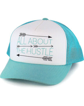 Hooey Women's Turquoise All About The Hustle Baseball Cap , Multi, hi-res
