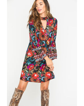 Wrangler Women's Floral Pattern Fashion Dress , Multi, hi-res