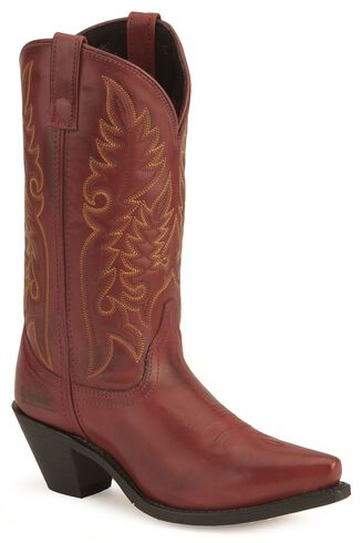 Laredo High Heel Red Cowgirl Boots - Snip Toe - Country Outfitter
