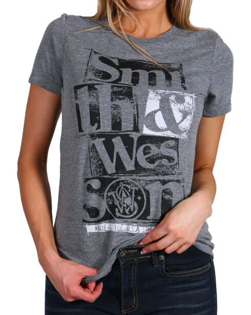 Smith & Wesson Women's Respect Graphic T-Shirt, Heather Grey, hi-res