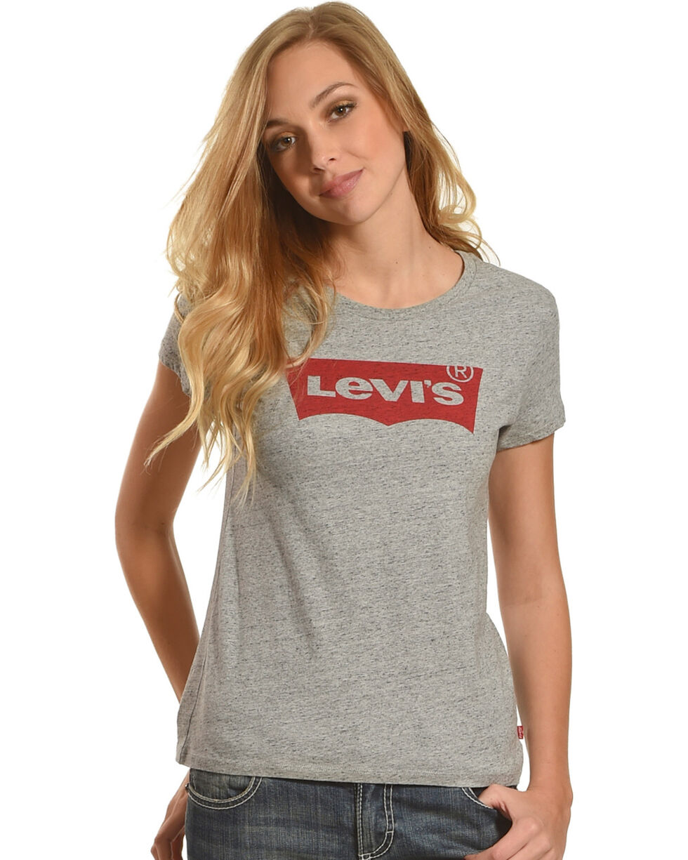 Levi's Women's Grey Classic Logo Crew Neck Tee , Grey, hi-res