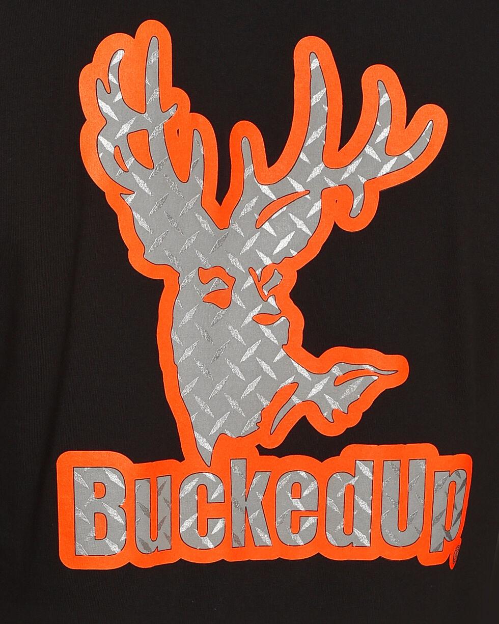 Bucked Up Men's Black Diamond Plate Logo Tee - Big, Black, hi-res