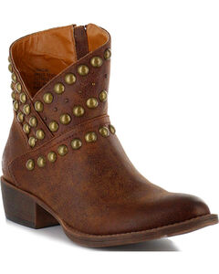 Coconuts by Matisse Women's Cowgirl Stud Booties, , hi-res
