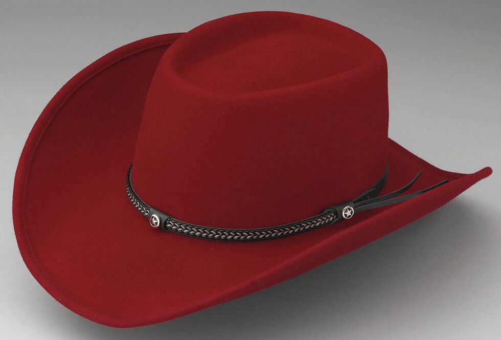 Outback Trading Co. Durango Oval Crown Crushable Australian Wool Hat, Red, hi-res