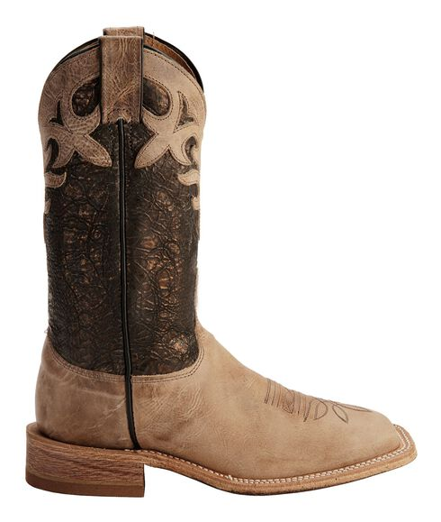 Justin Bent Rail Metallic Cowgirl Boots - Square Toe, Beige, hi-res