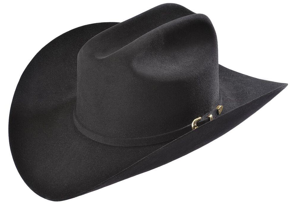 Larry Mahan Black Reno 6X Fur Felt Cowboy Hat, Black, hi-res