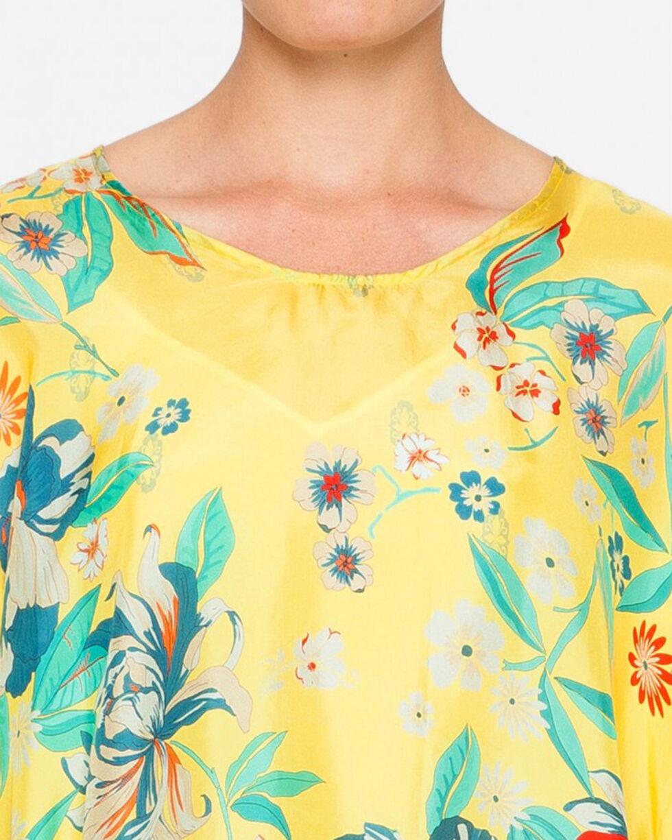 Johnny Was Women's Silk Nancy Top , Yellow, hi-res