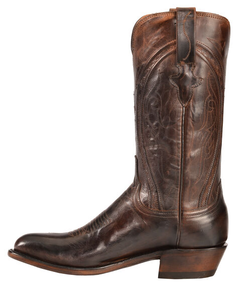 Lucchese Clint Heirloom Mad Dog Goat Boots- Round Toe, Peanut Brittle, hi-res