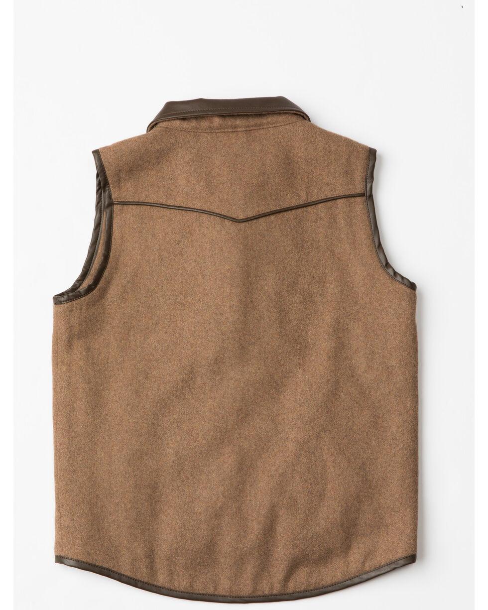 Cody James Boys' Western Wool Vest , Heather Grey, hi-res