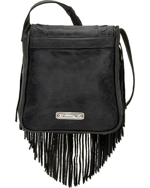 American West Seminole Collection Soft Fringe Crossbody Bag, , hi-res