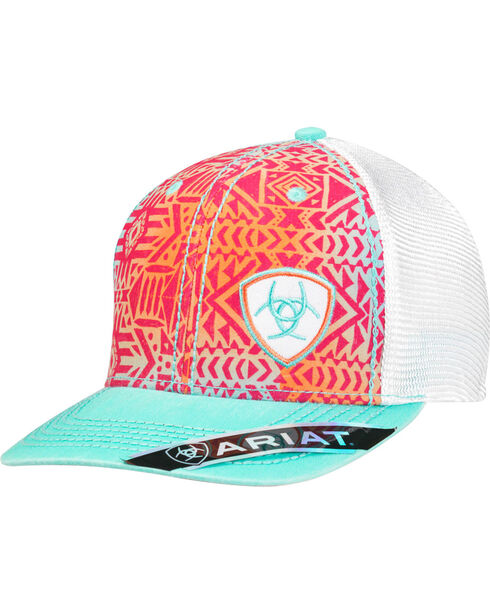 Ariat Women's Tribal Design Shield Logo Cap, Multi, hi-res