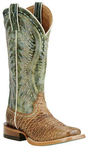 Ariat Women's Tan Vaquera Boots - Wide Square Toe, Tan, hi-res