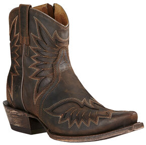 Ariat Brown Women's Andalusia Santos Boots - Snip Toe, Brown, hi-res