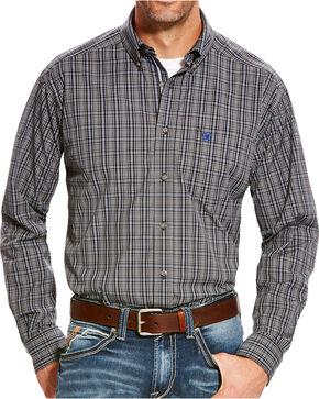 Ariat Men's Grey Barnhart Print Western Shirt - Tall, Grey, hi-res