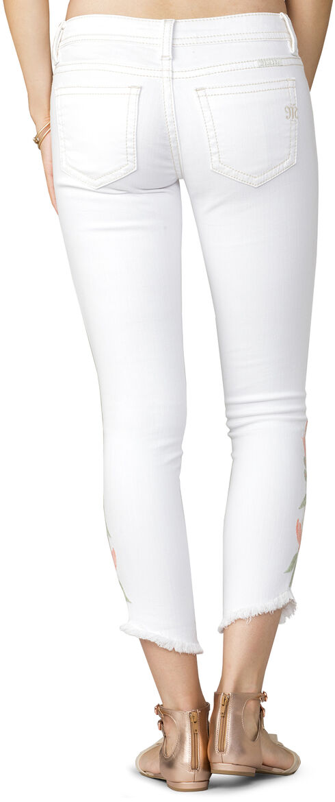 Miss Me Women's White Floral Oasis Ankle Jeans - Skinny , White, hi-res