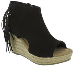 Minnetonka Women's Blaire Wedge Sandals, Black, hi-res