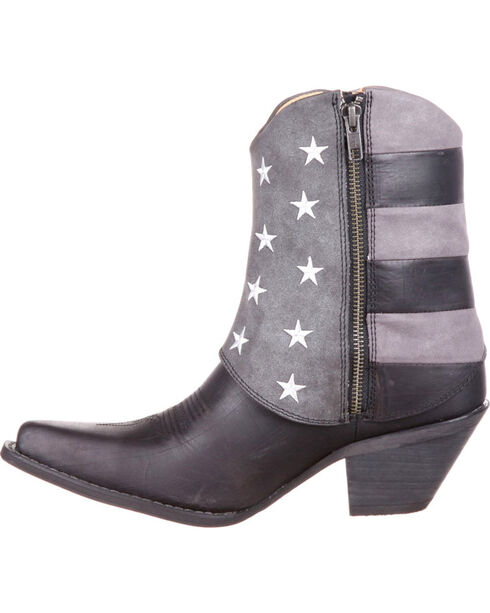 Crush by Durango Women's Black Fold-Down Flag Booties - Snip Toe , Black, hi-res