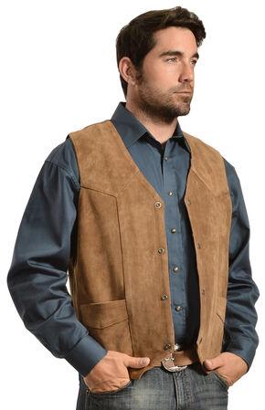 Liberty Wear Men's Suede Western Vest - Big, Brown, hi-res