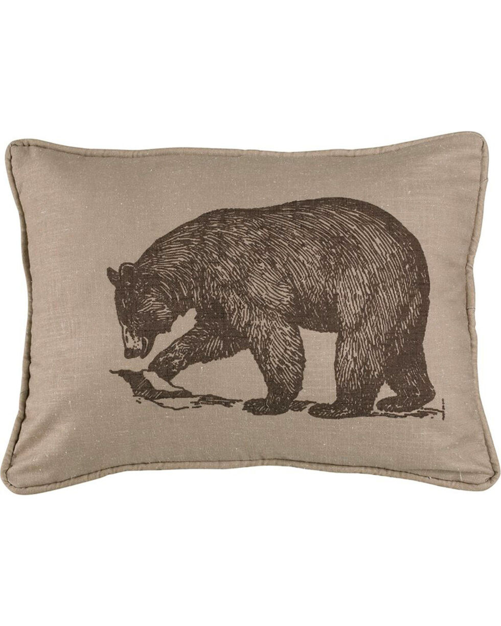 HiEnd Accents Printed Walking Bear Pillow, Multi, hi-res