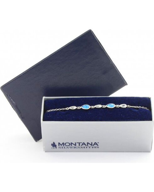 Montana Silversmiths Women's River of Lights Falling into Water Bracelet , Silver, hi-res