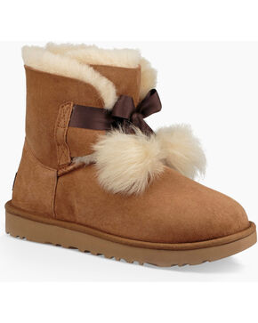 UGG Women's Chestnut Gita Short Boots - Round Toe , Chestnut, hi-res