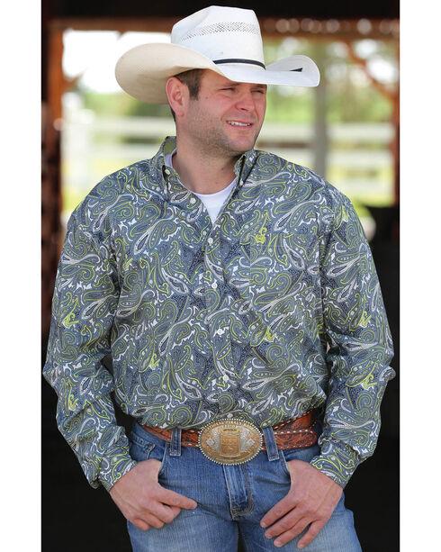 Cinch Men's Multi Long Sleeve Print Shirt , Multi, hi-res
