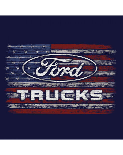 Buck Wear Men's Navy Ford - Barbed Flag T-Shirt , Navy, hi-res