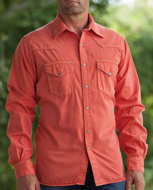 Ryan Michael Men's Paprika Pick Stitch Silk Gabardine Shirt , Chili, hi-res