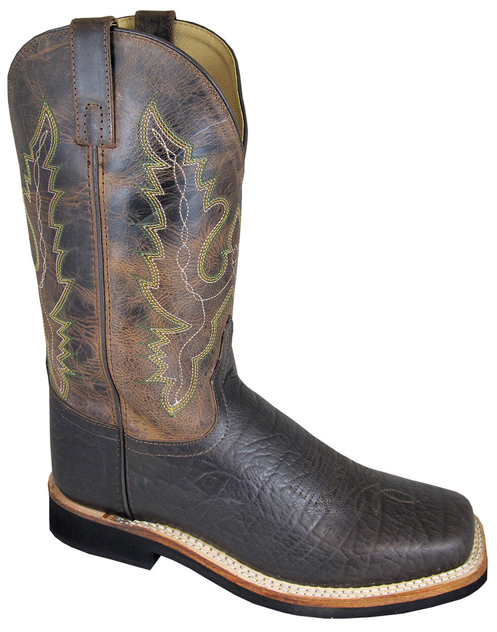 Smoky Mountain Men's Roger Cowboy Boots - Square Toe, Brown, hi-res