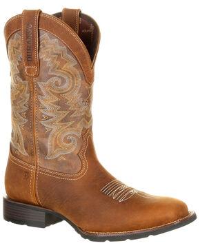 Durango Men's Mustang Waterproof Western Boots - Wide Square Toe, Multi, hi-res