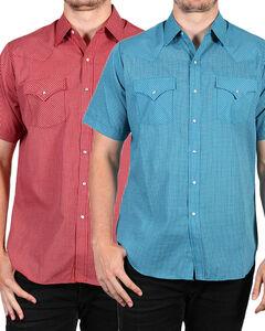 Ely Cattleman Men's Assorted Plaid Snap Short Sleeve Shirt , Multi, hi-res