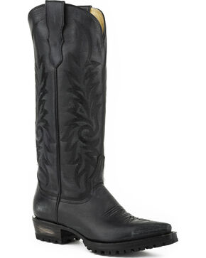Stetson Women's Lucy Lug Sole Western Boots - Snip Toe, Black, hi-res
