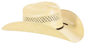 Cody James Men's 50X Straw Cowboy Hat, Natural, hi-res