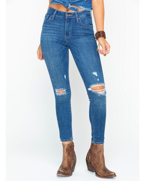Levi's Women's Indigo 721 High Rise Jeans - Ankle Skinny , Indigo, hi-res