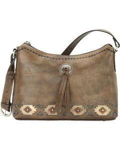 American West Brown Native Sun Zip-Top Shoulder Bag, , hi-res