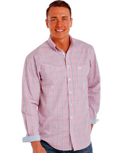 Panhandle Slim Men's Pink Redington Ombre Plaid Shirt , , hi-res